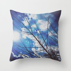 Thorns on blue Throw Pillow