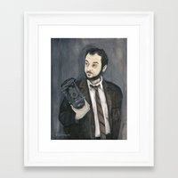 kubrick Framed Art Prints featuring Stanley Kubrick by Melinda Hagman