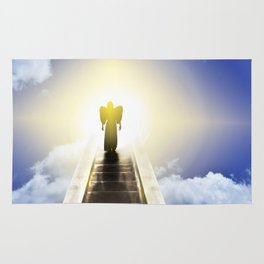 Angel On A Stairway To Heaven Rug
