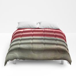 Industrial Wall | Red Grey Striped Wall | Contemporary Art Comforters