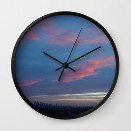 PinkSky Lines Wall Clock