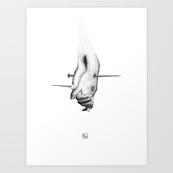 All we need is pain Art Print