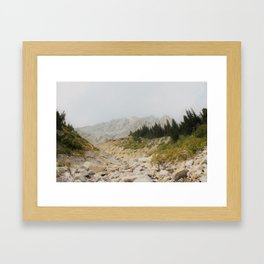 Mist Mountain Framed Art Print