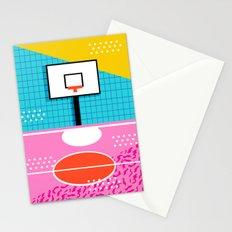 Ballin' - memphis retro neon trendy throwback sports basketball pop art Stationery Cards