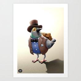 Urban Citizens - Classic Pidgeon Art Print