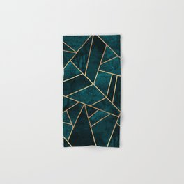 Deep Teal Stone Hand & Bath Towel
