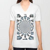 dalek V-neck T-shirts featuring Dalek by Natasha Lake
