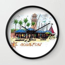 Sun n Fun - Dubai Wall Clock