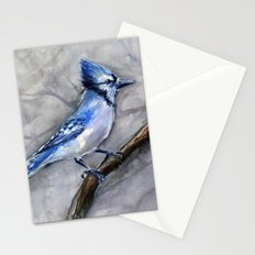 Blue Jay Watercolor Bird Stationery Cards