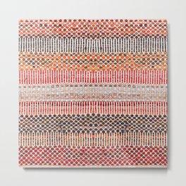 Tradirional Oriental Moroccan Boho Style 19 Metal Print