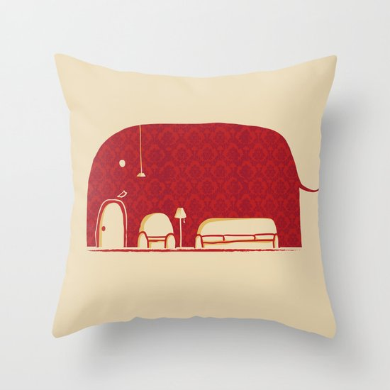 Elephanticus Roomious Throw Pillow