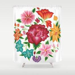Mexican Floral Bouquet Shower Curtain