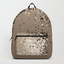 Sparkling Sepia Lady Glitter #1 #shiny #decor #art #society6 Backpack