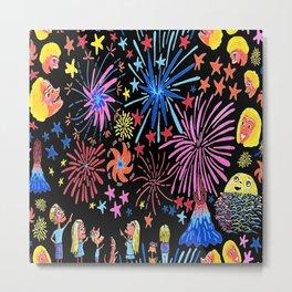 let's go see fireworks Metal Print