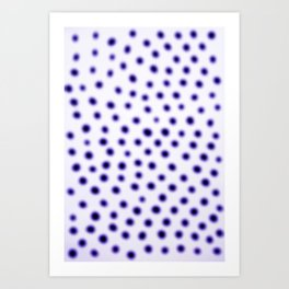 dots of focus Art Print