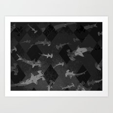 Argyle Frenzy in Midtone Art Print