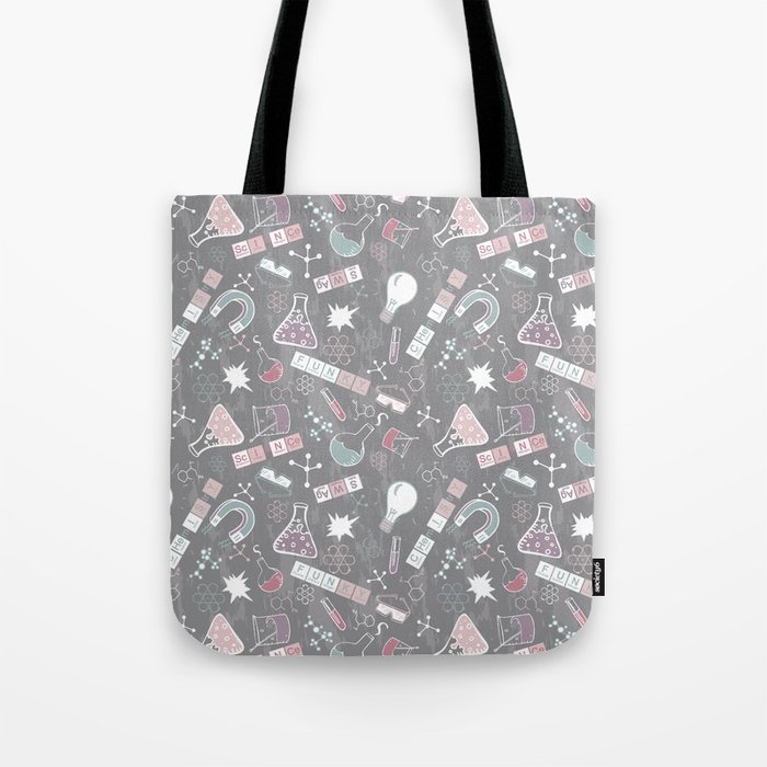 Chemistry on Gray Tote Bag