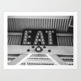 Eat Cayucos Art Print