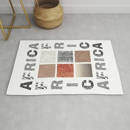 Africa - background with text and texture wild animal Rug