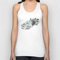 delorean Tank Tops featuring The Delorean by Josh Ln