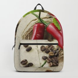 Rustic coffee beans kitchen image Backpack