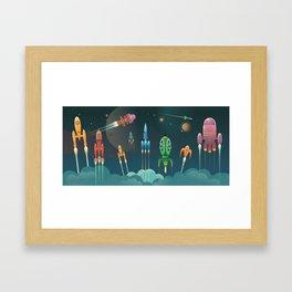 Grand Départ Framed Art Print