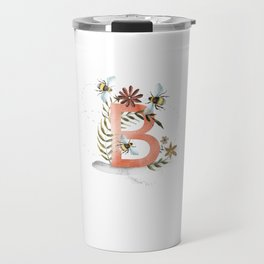 B is for Bee - Letter B Monogram Travel Mug