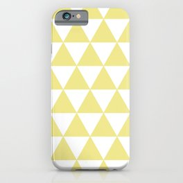 TRIANGLES (KHAKI & WHITE) iPhone Case