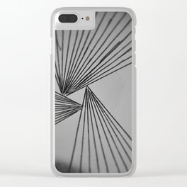 Gray Explicit Focused Love Clear iPhone Case
