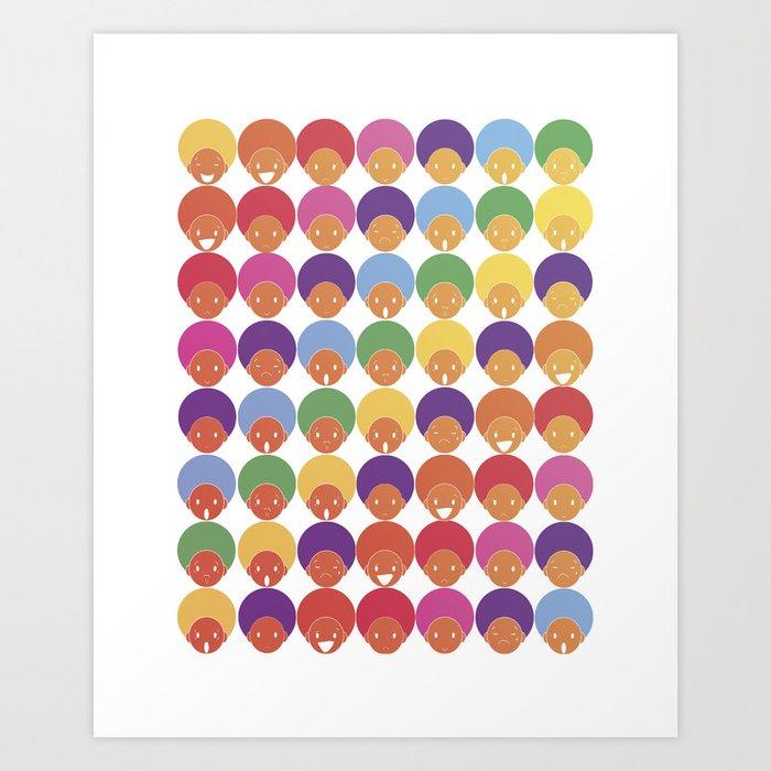 Afro Rainbows Art Print
