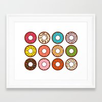 donuts Framed Art Prints featuring Donuts by TinyBee