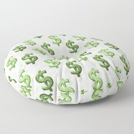 Dollar Sign Pattern Floor Pillow
