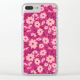 Cosmea pink Clear iPhone Case