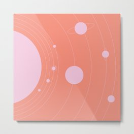 Orbit, pink Metal Print