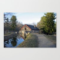 cabin Canvas Prints featuring Cabin by glomung