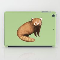 red panda iPad Cases featuring Red Panda by Sophie Corrigan