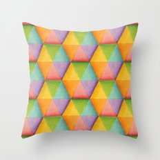 Rainbow Facets Throw Pillow