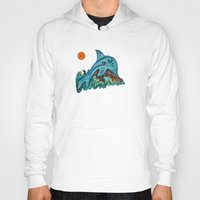 dolphin Hoodies featuring Dolphin by gretzky