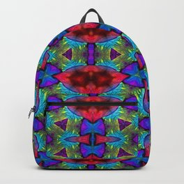 Flower Textile Backpack