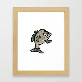 Crappie Fish Standing Mascot Framed Art Print