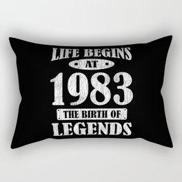 Life Begins 1983 The Birth Of Legend 38th Birthday Rectangular Pillow