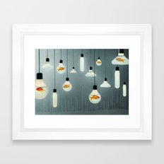 Ideas and Goldfish 04 Framed Art Print