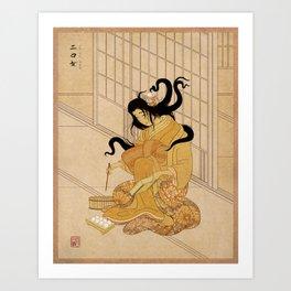 Yokai Series: Futakuchi-onna Art Print