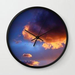 Sunset on Ischia Island Wall Clock