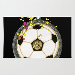 All Star Soccer Medal Rug