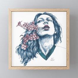 Wort-Blumen Framed Mini Art Print