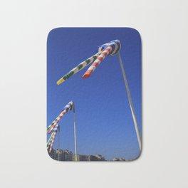 Funny Striped Knokke Wind Flags Bath Mat