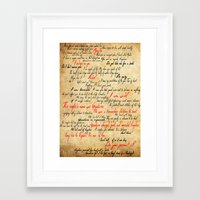 grantaire Framed Art Prints featuring Grantaire by Jessica Latham