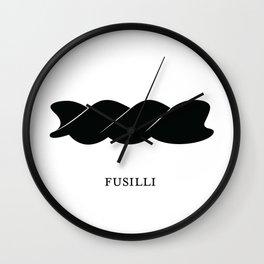 Pasta Series: Fusilli Wall Clock