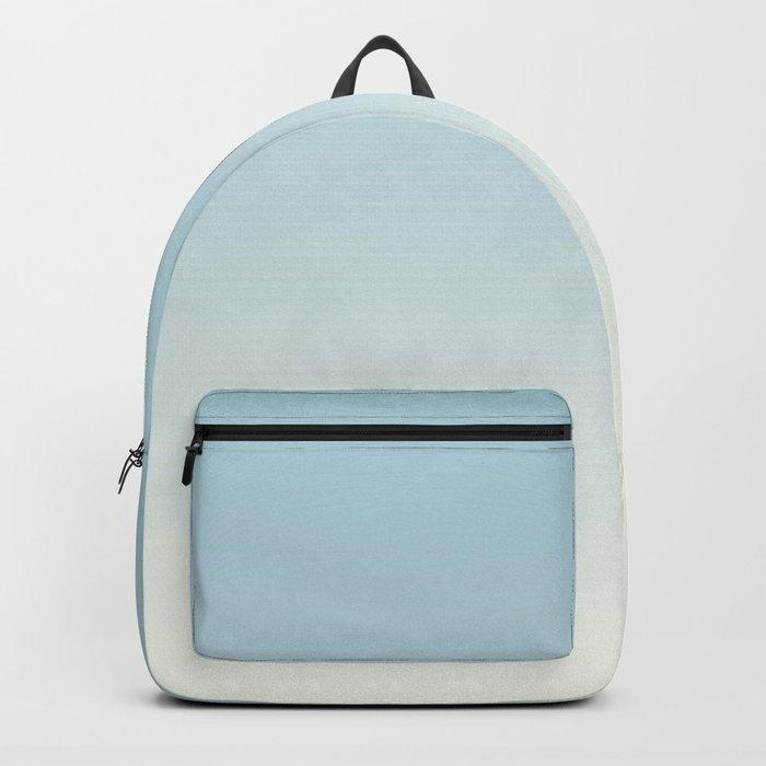 BLUE STRIKES - Minimal Plain Soft Mood Color Blend Prints Backpack